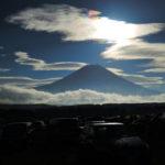 朝霧Jam'18 2日めの朝。朝日に映える富士山。